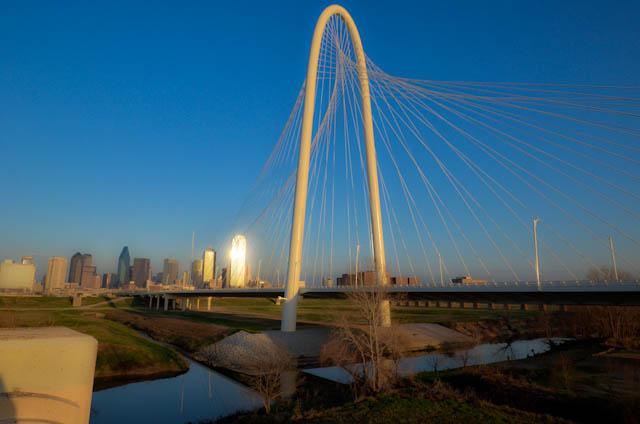 Calatrava Trinity River Bridge Dallas Magaret Hunt Hill