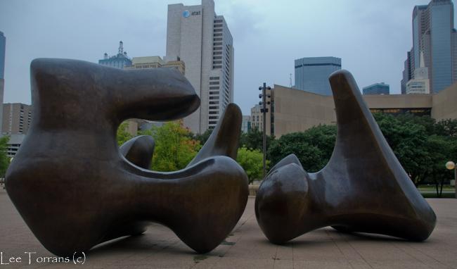 Henry Moore Sculpture Dallas City Hall Plaza