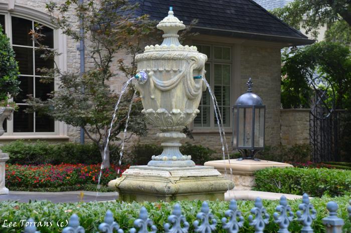 Fountains in Dallas gardening.