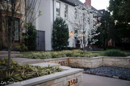 Stainless Steel Pipe Fountain Dallas Landscaping